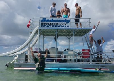 Backcountry Pontoon Slide Boat Rental