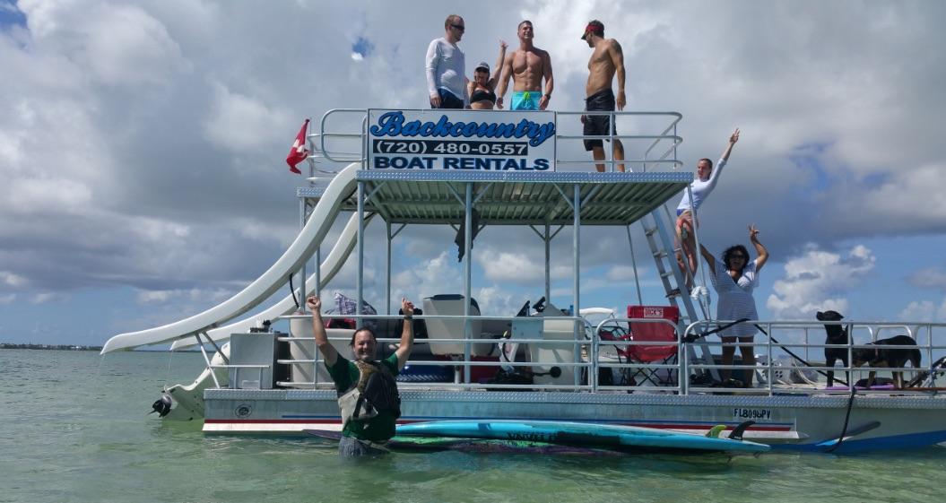 Backcountry Pontoon Slide Boat Rental
